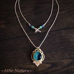 « 2 way (single or 2-strand) necklace with fused glass of Gen ✨ 爽やかなグラスは爽やかな配色で✨ [copyright 2015 Attic Natura] please do not copy my design and idea.… »