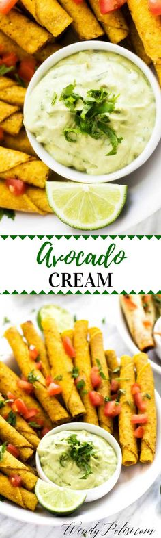 This Avocado Cream is the perfect addition to your game day menu!  #JustSayOle #ad @joseolecentral