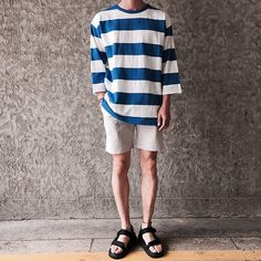 7-23-18 Korean Fashion Men, Dope Fashion, Japan Fashion, Outfits With Converse, Casual Outfits, Short Outfits, Fashion Outfits, Estilo Hipster, Fashion Essentials