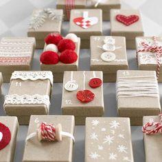 Gift Box Advent Calendar DIY