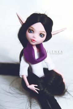 #Melenka #repaint #laura #drakulaura #monster #High #elf #custom #doll #ooak #monsterhigh