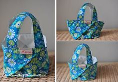 Fold square bag - almost like a basket. With photo tutorial