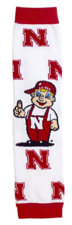 Licensed Nebraska Cornhuskers Baby & Kids Leg & Arm Warmers - Lil' Red. Officially Licensed Made in the USA Nebraska Cornhuskers Collegiate Product. 80% Cotton/20%Nylon Keeps legs and/or arms protected during all playtimes and seasons. Remove the need for constrictive pants or jackets. Allows for quick, easy diaper changes, potty training and warmth. Shows the littlest and BIGGEST fan's pride in the perfect way!.