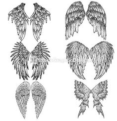 Angel wings drawing ideas