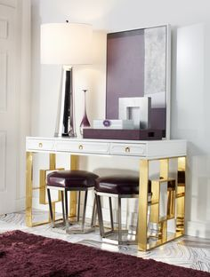 Entryway 4 Ways: Amethyst Glam Bedroom, Home Decor Bedroom, Bedroom Ideas,  Stylish
