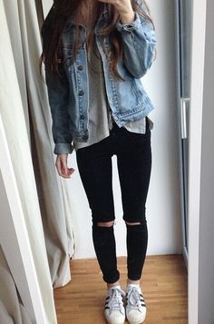 Looking for casual ripped jeans? Find more cute outfit idea to create your own street style with women's clothing at zefinka.com