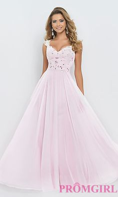 Blush Cap Sleeve Pink Prom Gown 9986 at PromGirl.com
