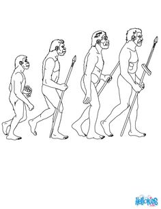 Stages in Human evolution coloring page. Go green and color online this Stages in Human evolution coloring page. You can also print out and color this . Coloring Book Pages, Coloring Pages For Kids, Egyptian Party, Prehistoric Man, Teaching Life Skills, Early Humans, Magic Treehouse, Human Evolution, Animal Habitats