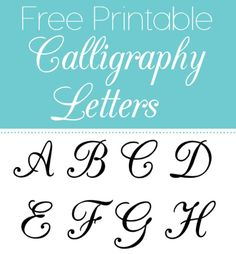 Free printable calligraphy letters are useful for a myriad of projects for school, crafts, scrapbooking, cards, letters, invitations, and more! Whether you are using them for personal or business be sure to keep these free printables handy. Go ahead and print yours now.