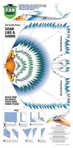DIY Hawk Paper Plane | The Seattle Times