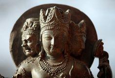 Three headed Shiva, with Bhairava and Parvati heads, Kashmir