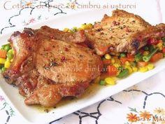 Cotlete de porc in sos aromat cu rozmarinCulorile din Farfurie Cordon Bleu, Turkey, Meat, Chicken, Recipes, Pork, Turkey Country, Recipies, Ripped Recipes