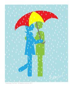 If you have an umbrella the rain is fun