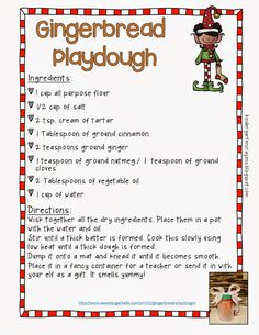 Gingerbread Playdoh.  This would be such a sweet gift! I'll be using it in my word work center for my second graders to make words during our gingerbread unit!