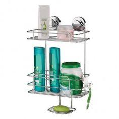 7ba23d2cf Suporte para Shampoo e Sabonete de parede com Ventosas de Alta Sucção -  Praticitá - 5 Anos de Garantia