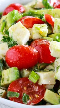 Mozzarella & Tomato Salad ~ A simple salad with fresh mozzarella ...