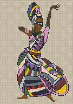 African Lady x-stitch Dmc Cross Stitch, Cross Stitch Needles, Cross Stitching, Cross Stitch Embroidery, Hand Embroidery, Cross Stitch Patterns, Math Patterns, Beading Patterns, African Artwork