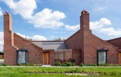 Brick bungalows provide social housing for elderly residents in east London