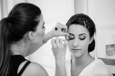 Zoe Dellis Makeup doing her thing...  See more at www.jonharris.photography/weddings