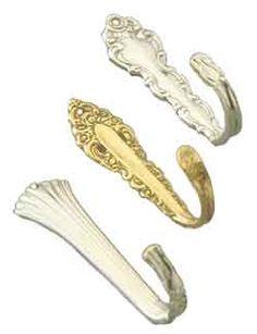 Hook made with vintage silverware