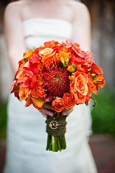 orange bouquet brautstrauss