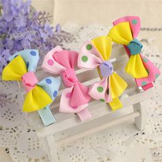 Delicate Hot! Infant Baby Lovely hair accessories Cute Dot Bowknot Hair Clips Baby Girl Hairpin Child  girl handwear Ju23 #>=#>=#>=#>=#> Click on the pin to check out discount price, color, size, shipping, etc. Save and like it!