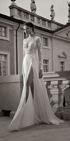 #vestido #noiva #casamento #fenda #renda #dress #bride #wedding  Berta Bridal Winter 2014 Collection {Fragmentos}