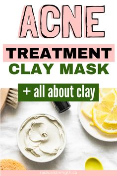 Try this diy clay acne treatment for beautiful clear skin. Clay is amazing for giving your skin a re-set and reducing oil. Get rid of hormonal or cystic acne with clay and a few other ingredients. Learn about the different types of clay like green french, kaolin, rhassoul, and more. #diyfacemask #facial #skincare #claymask #facemask #diybeauty
