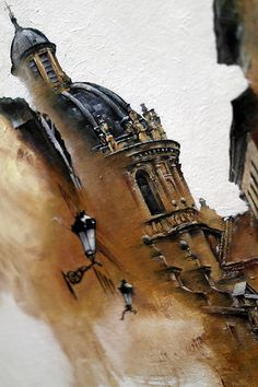 Architecture II by Sunga Park Watercolor Architecture, Watercolor Landscape, Art And Architecture, Watercolor Art, Art Alevel, Building Art, A Level Art, Urban Sketching, Art Graphique