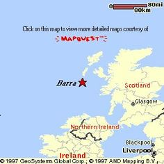 Location of Barra Island in Scotland's Outer Hebrides.