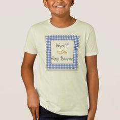 Cowboy Ring Bearer Gingham-Checks Country Wedding T-Shirt