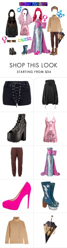 """""""Alter Egos"""" by everysimpleplan ❤ liked on Polyvore featuring Demonia, adidas Originals, Pierre Cardin, Brian Atwood, The Kooples and Christian Dior"""