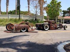 Wes Smith's 1934 Ford Truck and Trailer by gaz monkey Custom Rat Rods, Custom Trucks, Custom Cars, Chopper, Rat Rod Cars, Gas Monkey Garage, Sweet Cars, Transporter, Cool Trucks