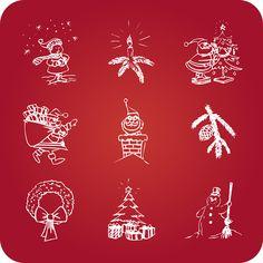 Рождество, Праздники, Значки, Снеговик, Николас