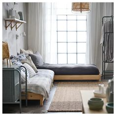 UTÅKER Stackable bed, pine, Twin - IKEA Twin Bed Couch, Cama Ikea, Ikea Daybed, Daybed Room, Mattress Stains, Spare Bed, Lit Simple, Moving Furniture, Bed Slats