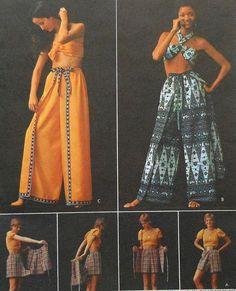 "Vintage 70s ""Wrap and Go"" Pantskirt Sewing Pattern UNCUT Butterick 6720 Size Large. $16.00, via Etsy."