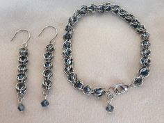 Captive Crystals Bracelet and Earrings by shadowonthesun9 on Etsy