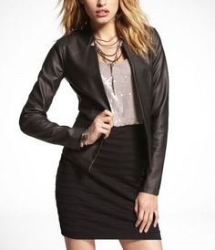 (MINUS THE) LEATHER BLAZER at Express