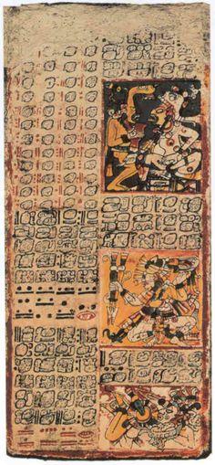 Fragmento del Codice de Dresde (codice maya)