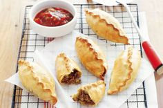 Mince and potato pasties
