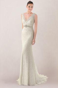 Cascading Goddess Gown from BHLDN | Winter Wedding Ideas ...