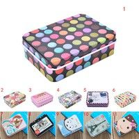 Wish | Mini Tin Metal Container Small Rectangle Lovely Storage Box Case Pattern YMM