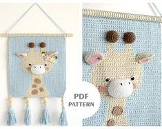 Crochet pattern PDF file amigurumi giraffe DIY easy crochet | Etsy Crochet Panda, Lion Crochet, Giraffe Crochet, Crochet Unicorn, Crochet Bunny, Nursery Patterns, Wall Patterns, Giraffe Decor, Room Tapestry