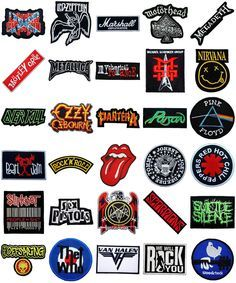 Music Songs Heavy Metal Punk Rock Band Logo L-W T-Shirts iron on Patches   #Unbranded