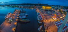 View from big wheel / Lahti harbour