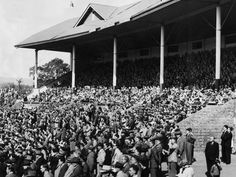 About fans watch Norwood take on West Torrens in the semi-final match at Adelaide Life In The 1950s, Adelaide South Australia, Australian Football, Semi Final, Cities, The Past, Fans, Black And White, History