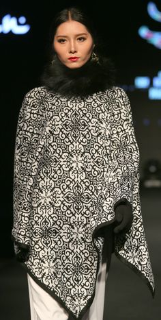 "Autumn Winter 2015/16, Aidarkhan Kaliev. Knitted cape-style ""neo-folk"""