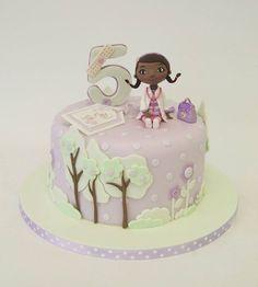 Little Girl's Doctor Themed Birthday Cake