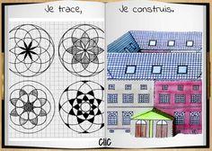 Dessins géométriques - Craie hâtive