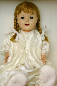 Vintage Old Doll - I had this doll, but she had a soft skin body that didn't survive the years. I think she was probably my favorite because she was soft.